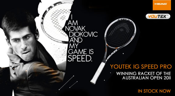 The brand new Head YouTek IG Speed Pro, as used by Djokovic at Direct Sports!