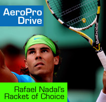 Babolat AeroPro Drive Tennis Racket, as used by Rafael Nadal. Direct Sports!