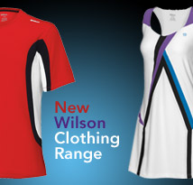 Brand new tennis Wilson clothing available at Direct Sports!